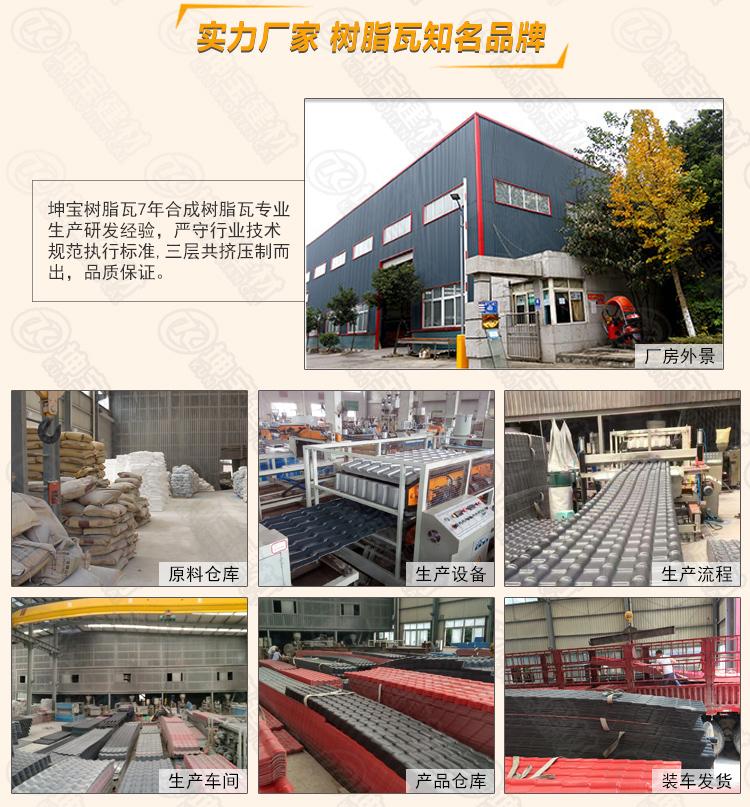 「树脂瓦生产厂家」批发直销,全新料三层白底